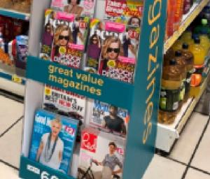 Merchandising magazines in Poundland