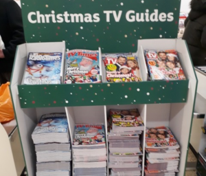 Christmas TV Guides brought to stores by Instore